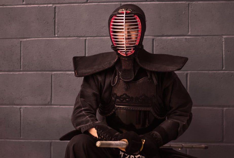 剣道の道着きてる人