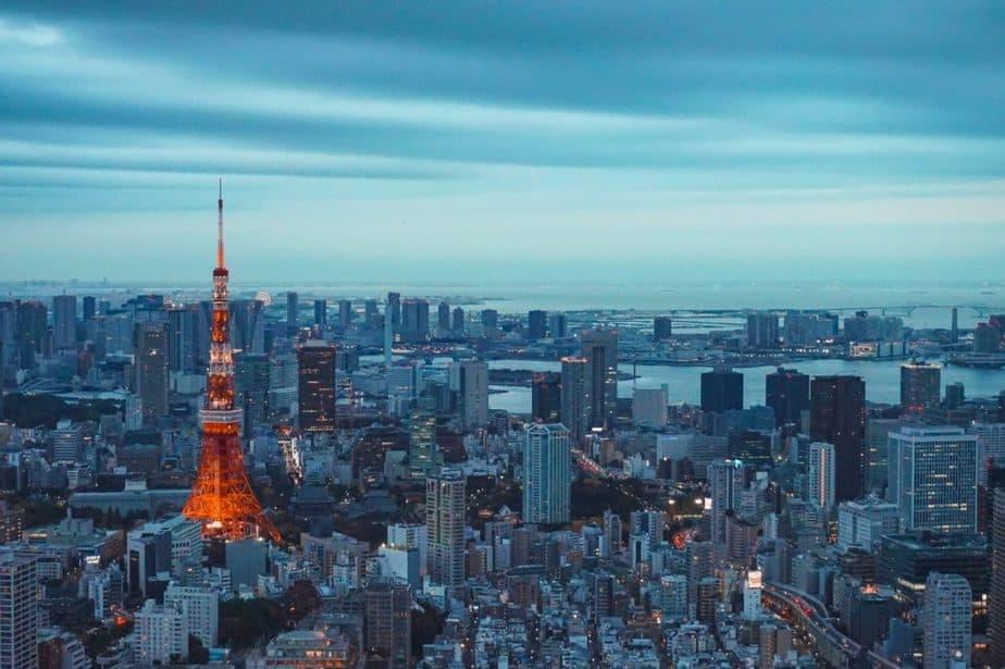 東京タワーが見える東京の景色